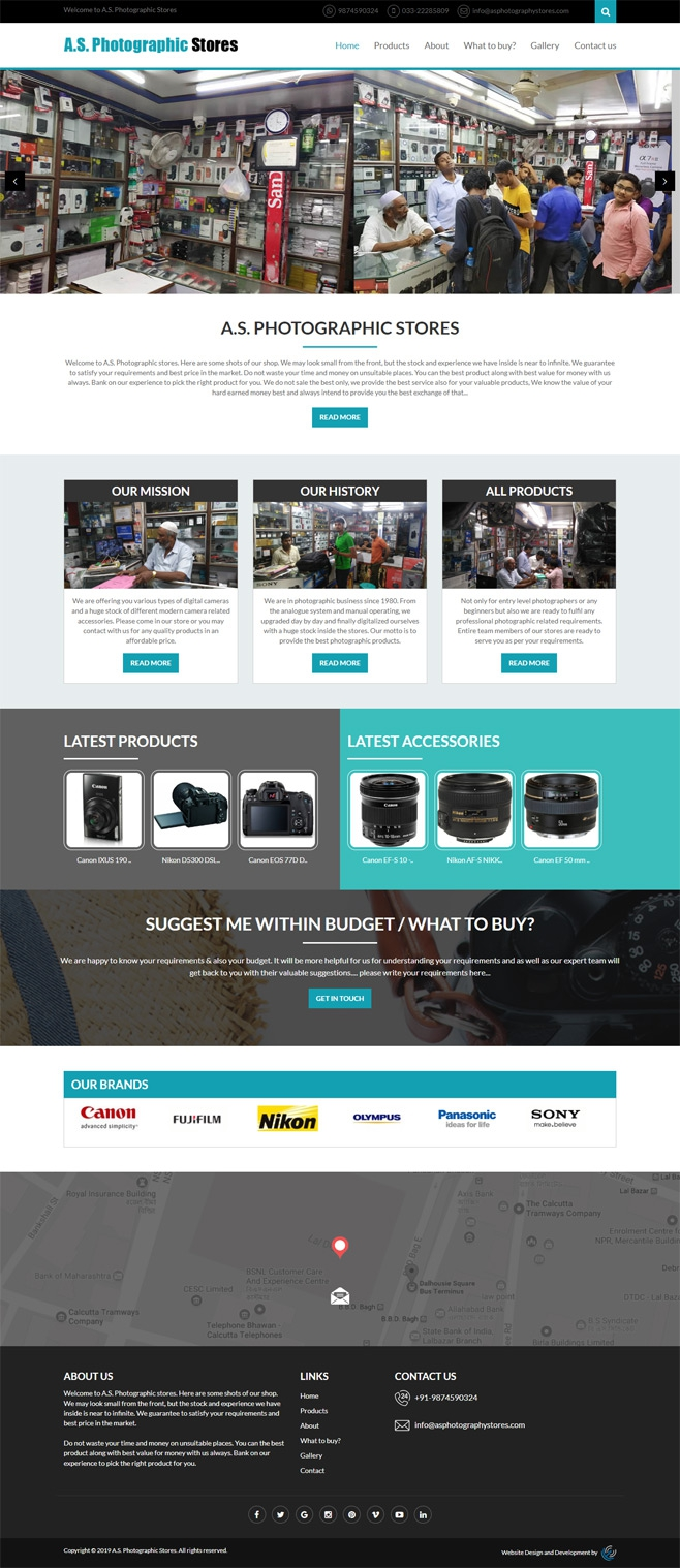 Application site for a photographic stores